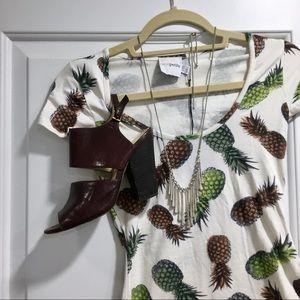 ASOS petite exclusive pineapple stretch mini dress